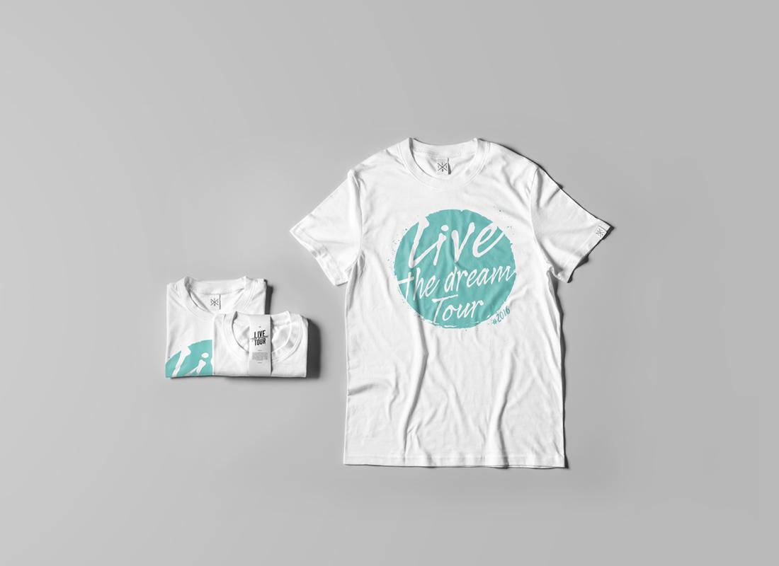 T-shirt Live the Drem Tour