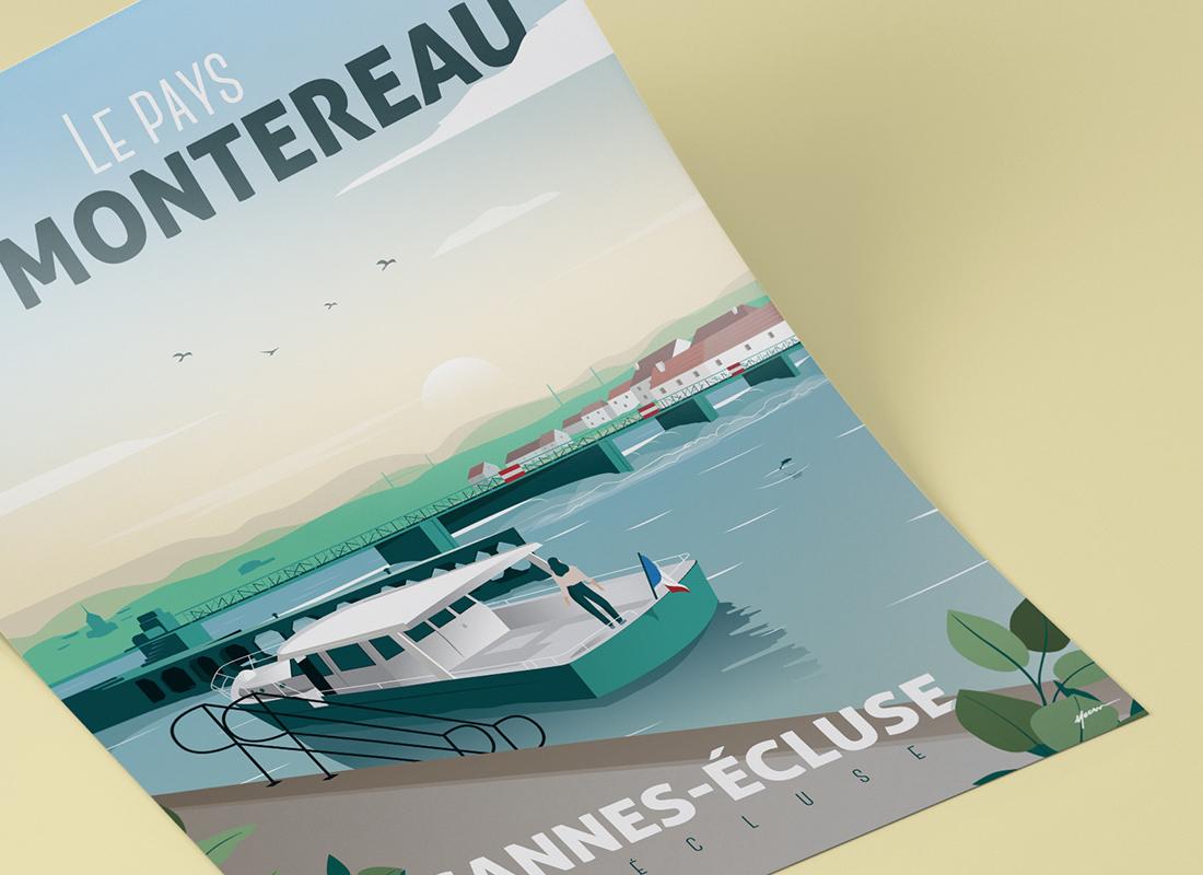 Affiche Cannes-écluse