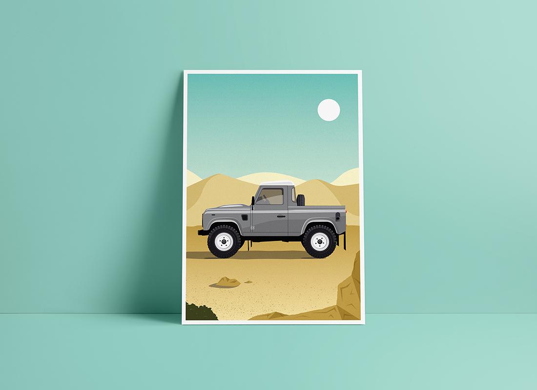 affiche land rover defender1