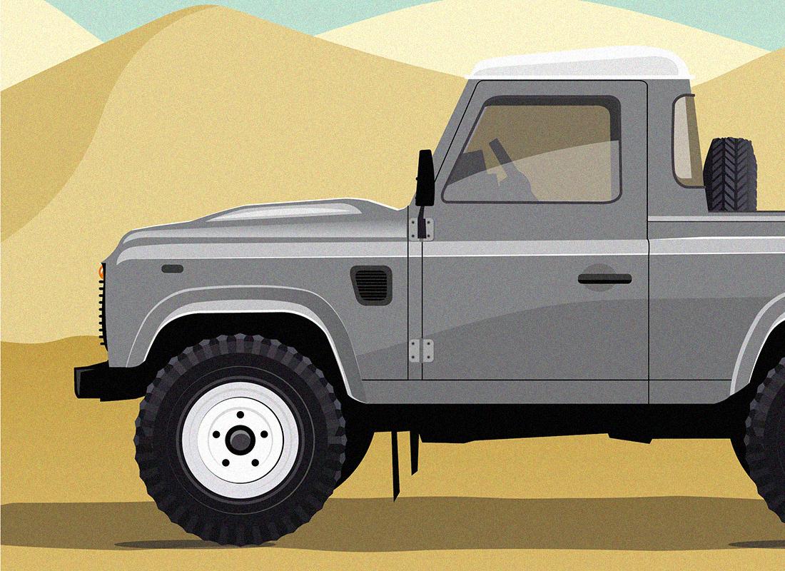 illustration land rover defender2