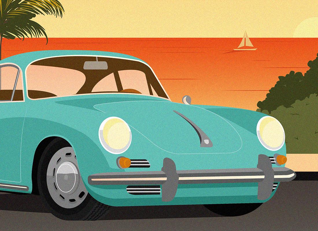 illustration porsche 3563